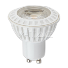 LED spuldze  - LED Spotlight - 6W GU10 White Plastic Premium Warm White 38°